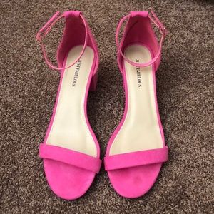 JustFab Pink Strappy Sandals